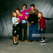 TWO OF A KIND - Cast Gallery - Shoot Date: October 26, 1998. (Photo by ABC Photo Archives/ABC via Getty Images) ASHLEY OLSEN;SALLY WHEELER;DAVID VALCIN;CHRISTOPHER SIEBER;MARY-KATE OLSEN